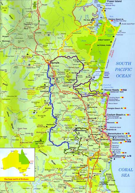 Regional Map REGIONAL MAP Coolum Sunshine Coast Queensland - Map australia queensland